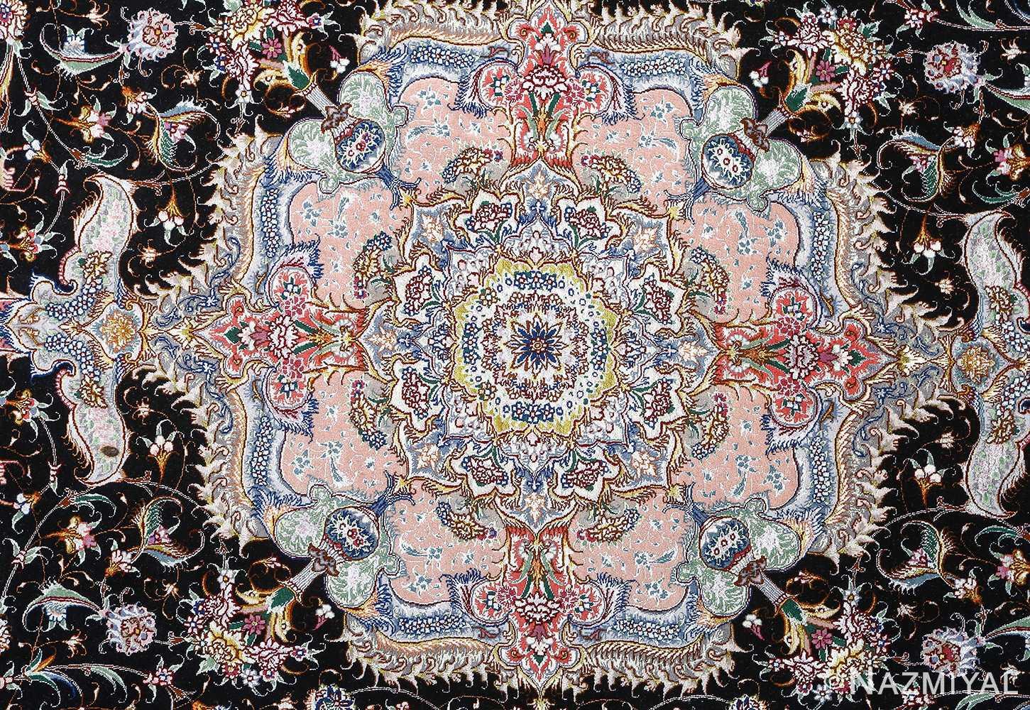 fine honarmand silk and wool tabriz persian rug 51004 nazmiyal medallion