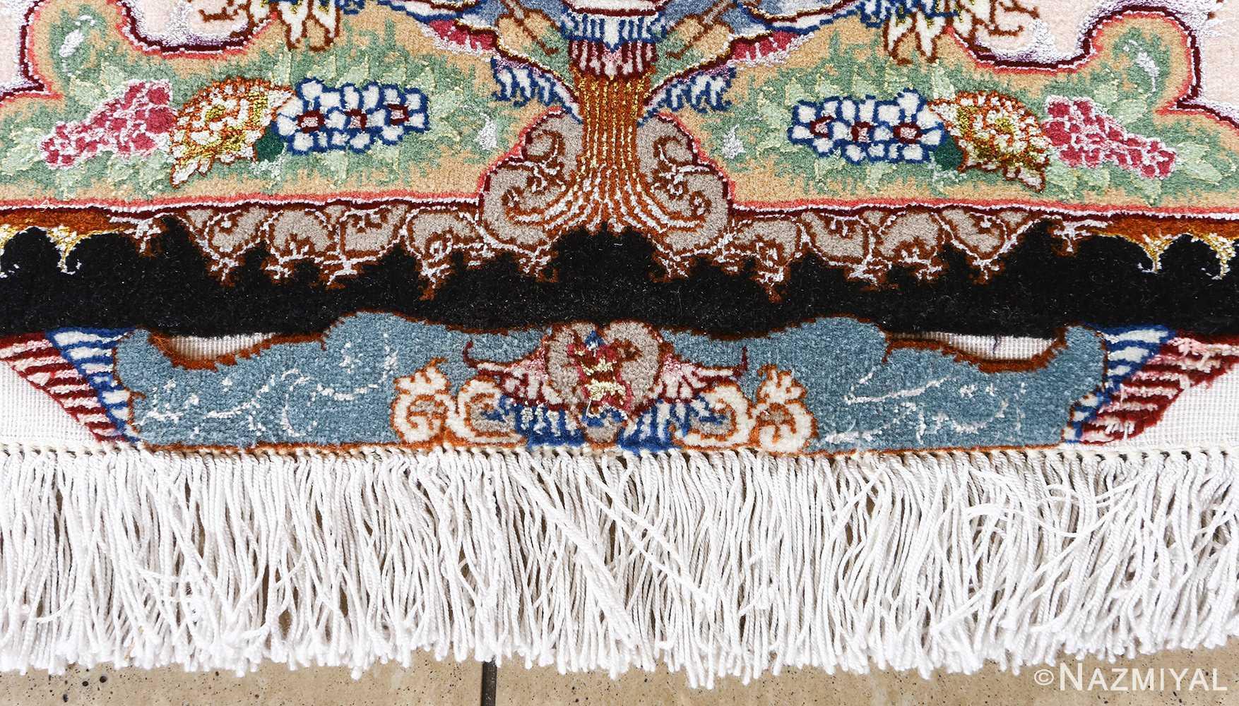 fine honarmand silk and wool tabriz persian rug 51004 nazmiyal signature