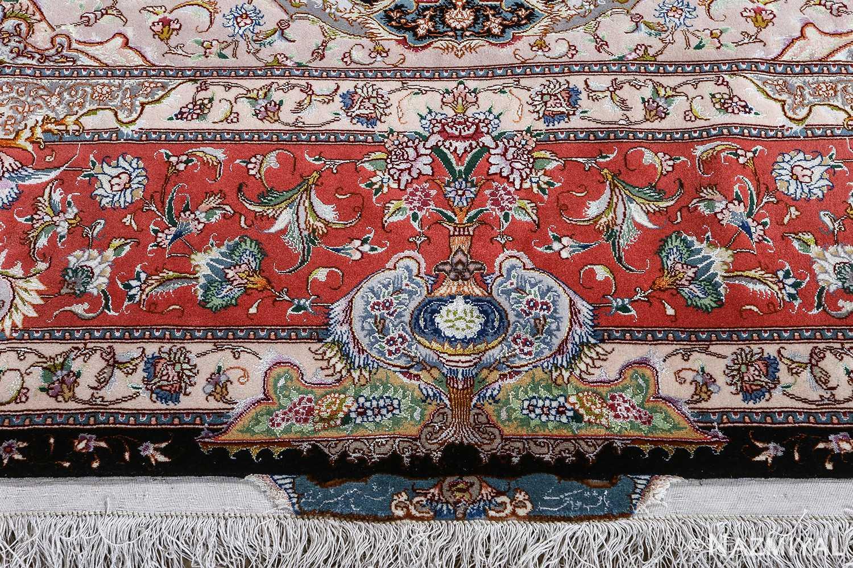 fine honarmand silk and wool tabriz persian rug 51004 nazmiyal top