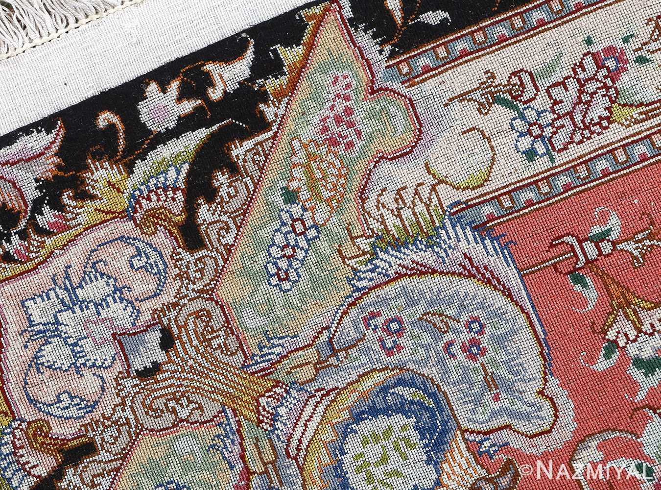 fine honarmand silk and wool tabriz persian rug 51004 nazmiyal weave