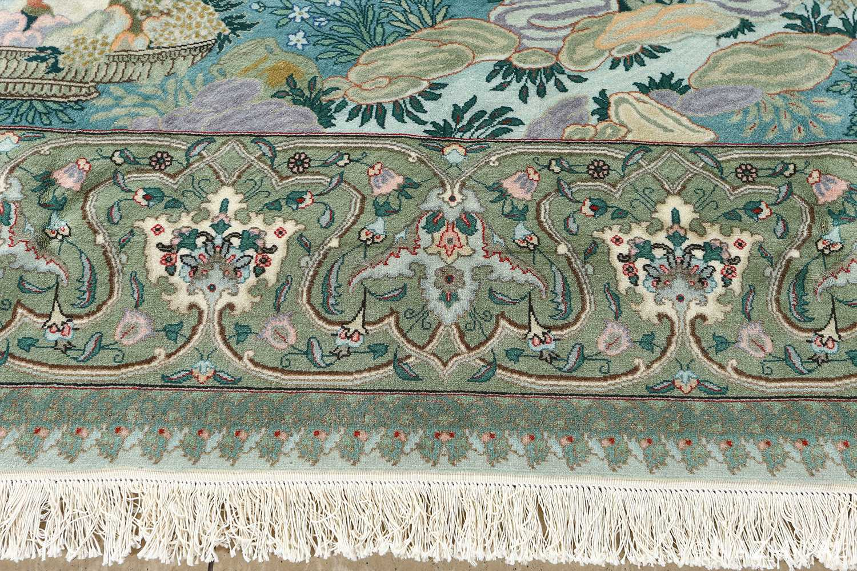 fine pictorial sheikh sannan vintage tabriz persian rug 51027 border Nazmiyal