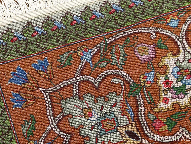 fine pictorial sheikh sannan vintage tabriz persian rug 51027 weave Nazmiyal