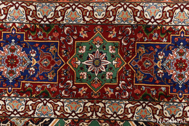 fine seyrafian ghonbad silk foundation tabriz persian rug 51002 nazmiyal border
