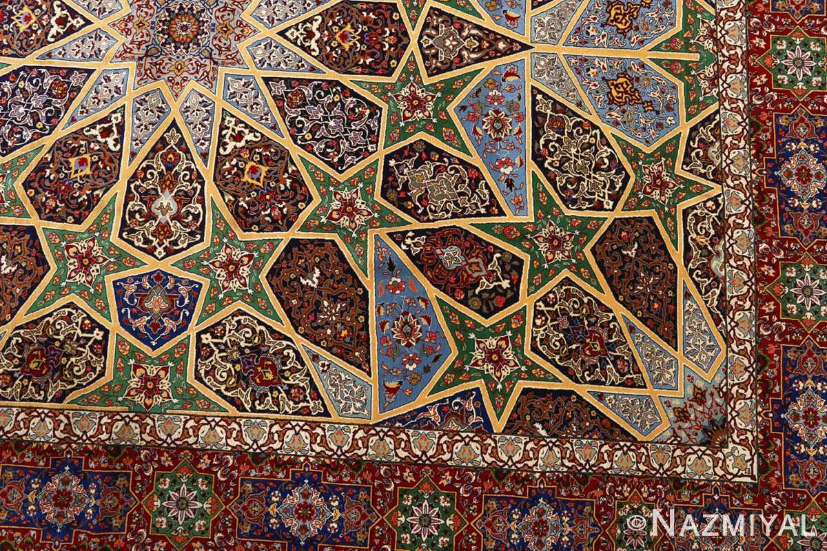 fine seyrafian ghonbad silk foundation tabriz persian rug 51002 nazmiyal design