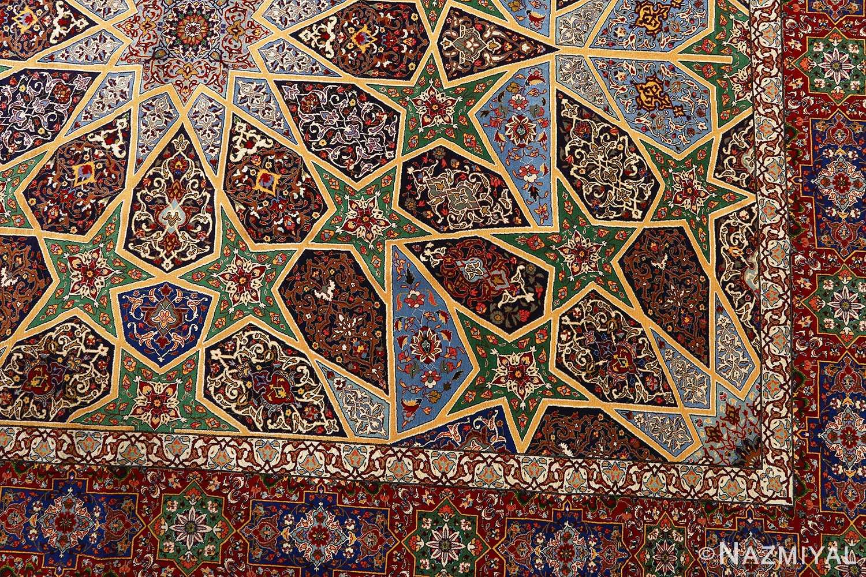 fine seyrafian ghonbad silk foundation tabriz persian rug 51002 nazmiyal design