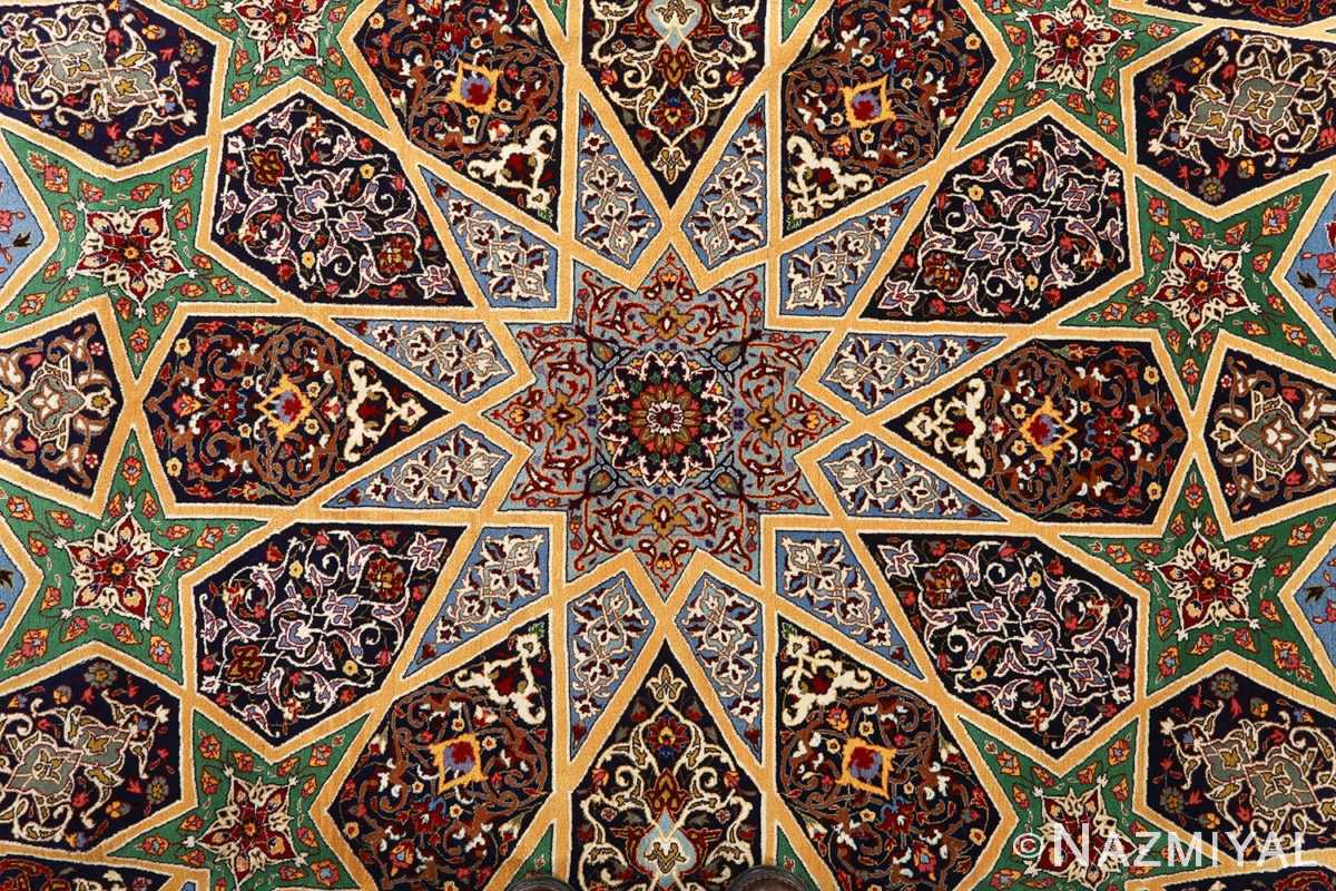 fine seyrafian ghonbad silk foundation tabriz persian rug 51002 nazmiyal medallion