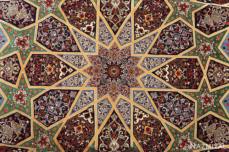 fine seyrafian ghonbad silk foundation tabriz persian rug 51002 nazmiyal medallion