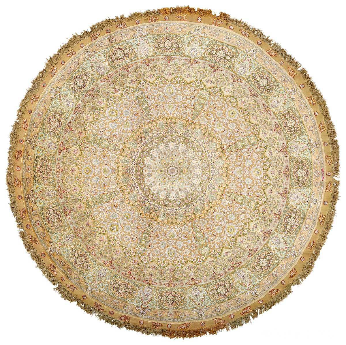 Modern Persian Tabriz Design Rug 44687 Nazmiyal Antique Rugs: Silk Gold Metallic Threading Tabriz Persian Rug 51006 Nazmiyal