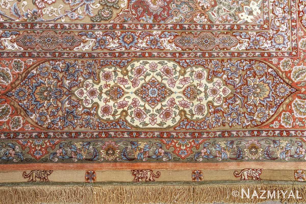 fine shahsavarpour silk and metallic thread persian tabriz rug 51000 nazmiyal border