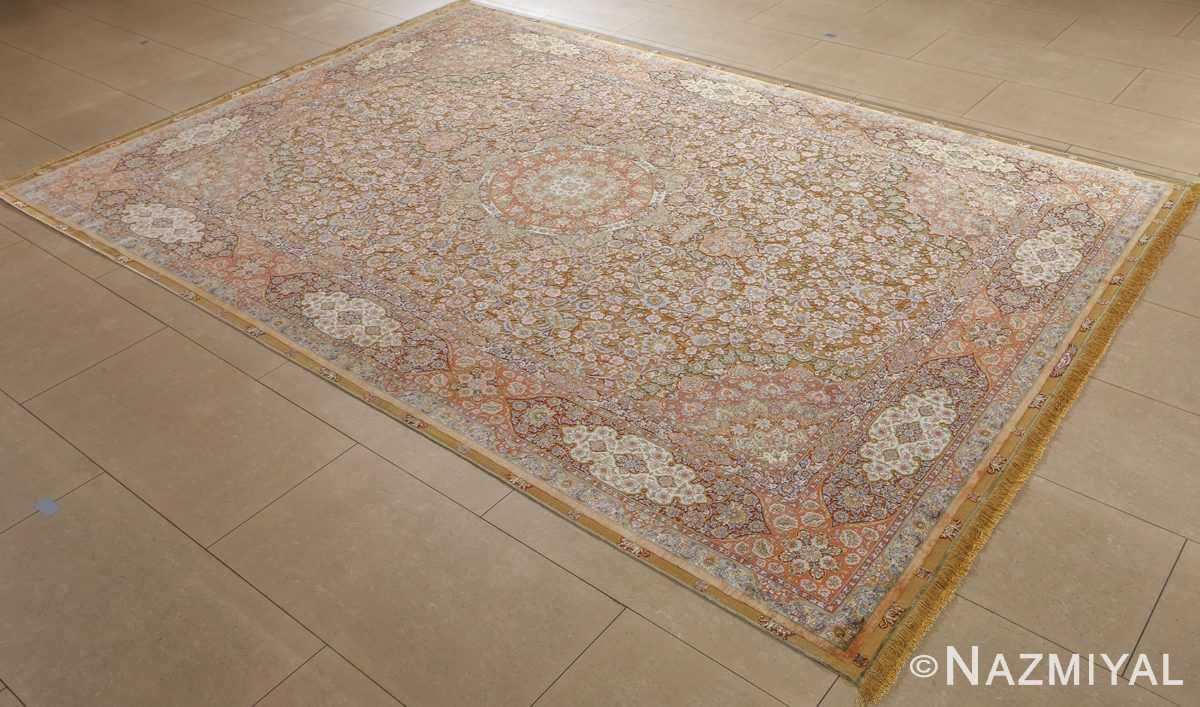 fine shahsavarpour silk and metallic thread persian tabriz rug 51000 nazmiyal side