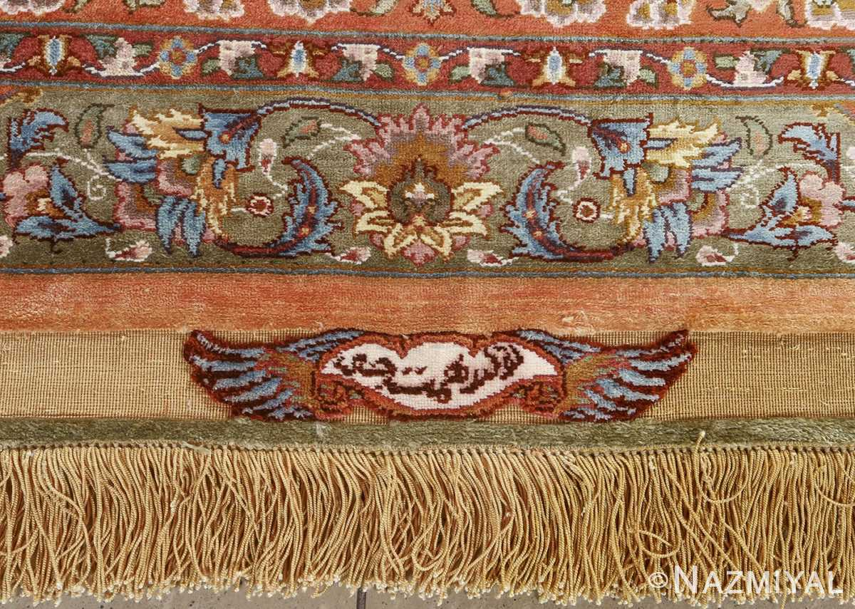 fine shahsavarpour silk and metallic thread persian tabriz rug 51000 nazmiyal signature