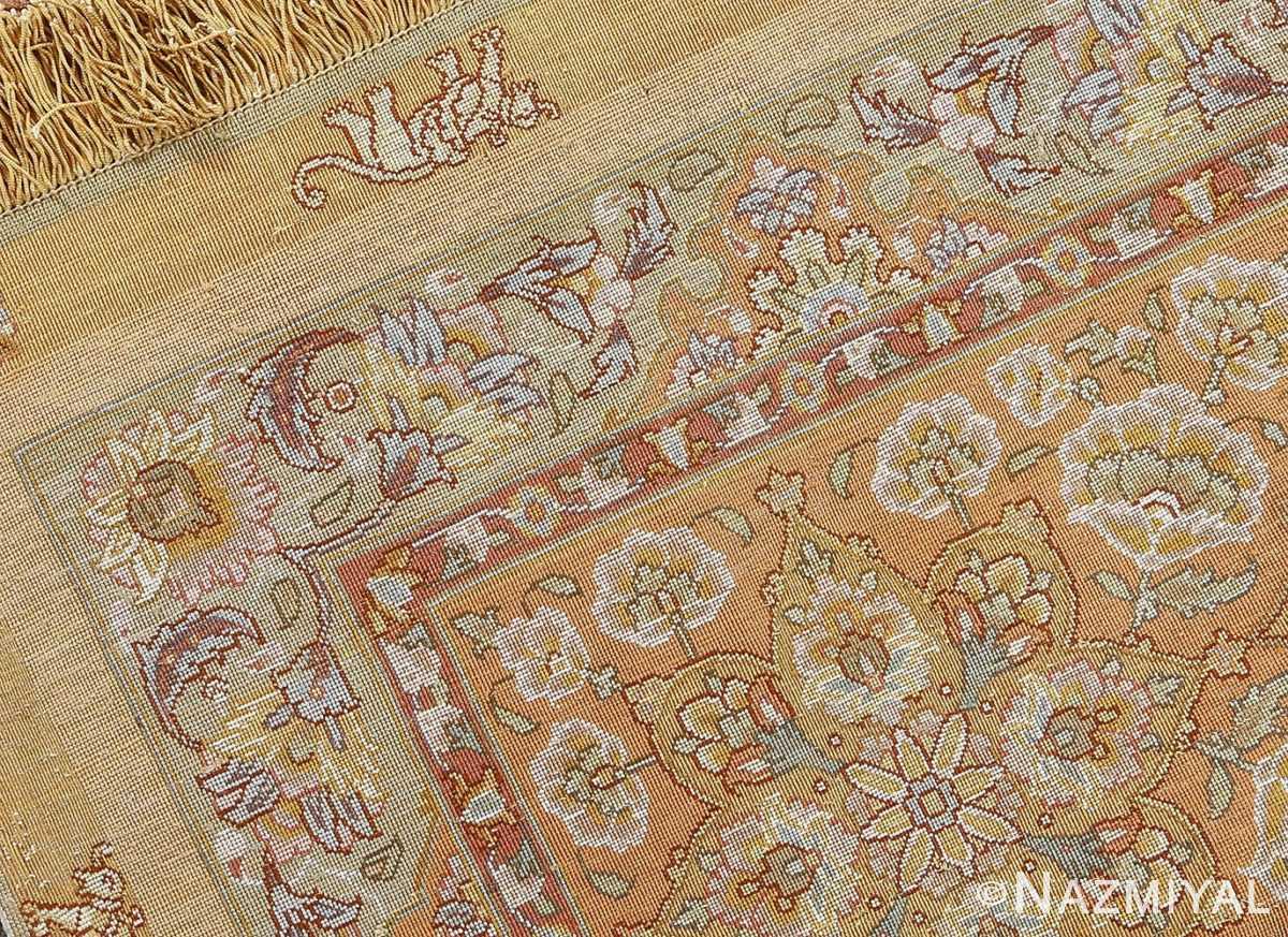 fine shahsavarpour silk and metallic thread persian tabriz rug 51000 nazmiyal weave