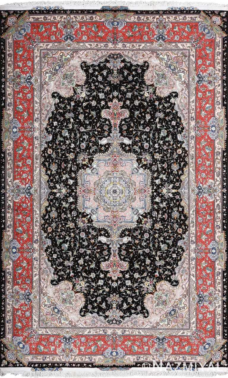 fine vintage silk and wool by honarmand tabriz persian rug 51004 Nazmiyal