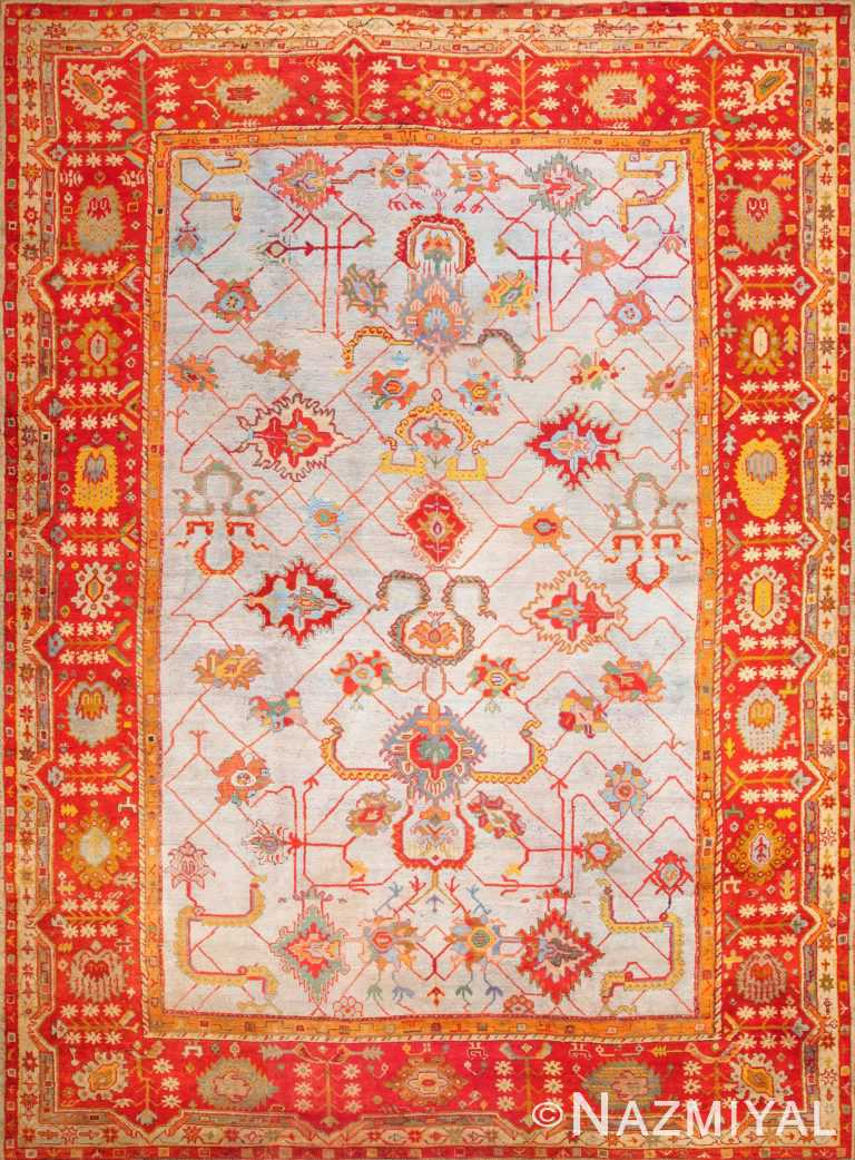Large Antique Arts and crafts Turkish Oushak Rug 49144 Nazmiyal Antique Rugs