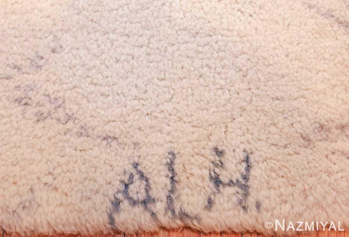 vintage swedish rug 49215 signature Nazmiyal