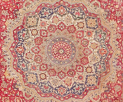 Large Antique 17th Century Mughal Gallery Carpet, Nazmiyal