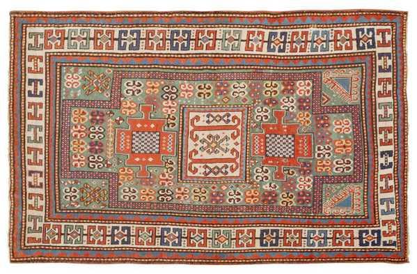 Antique Kazak Caucasian Rug, Nazmiyal
