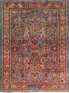 antique blue background zigler sultanabad persian rug 51060 Nazmiyal