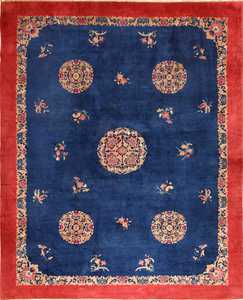 antique blue chinese rug 49243 Nazmiyal