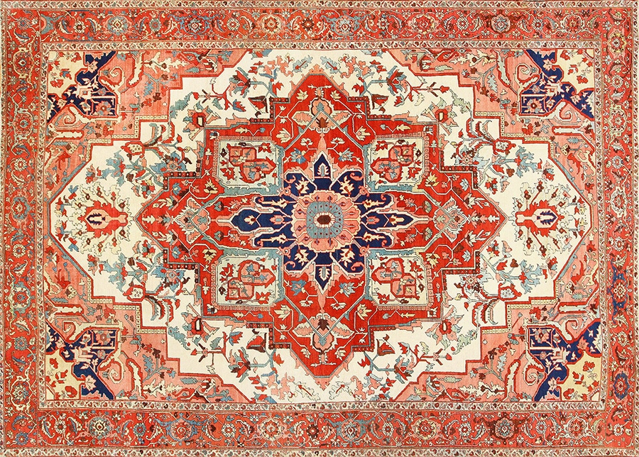 Antique Geometric Medallion Design Rug Nazmiyal