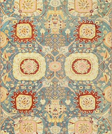Light Blue Antique Indian Amritsar Carpet, Nazmiyal