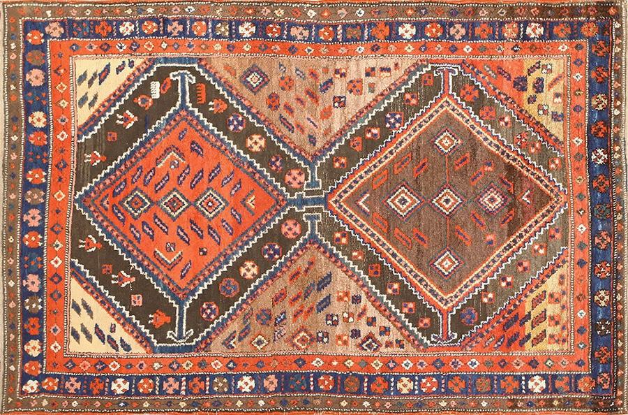 Antique Kurdish Persian Village Rugs by Nazmiyal