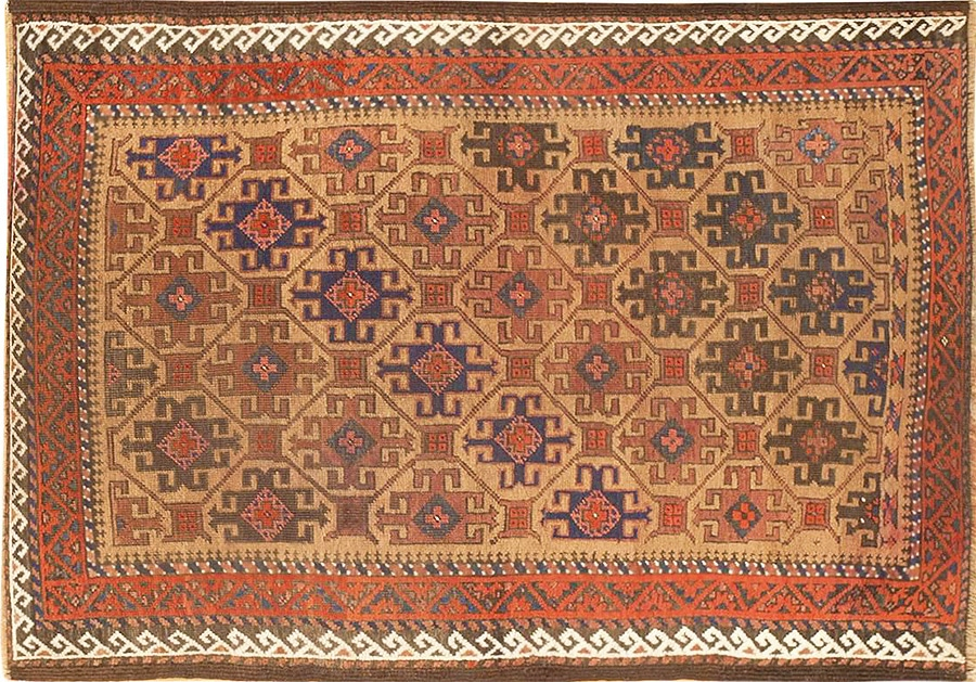 Antique Persian Baluch tribe Rug by Nazmiyal