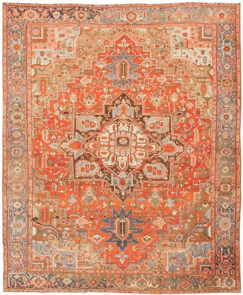 Antique Persian Heriz Serapi Persian Rug, Nazmiyal
