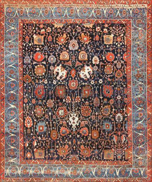 Extremely Rare and Beautiful Antique Persian Bakshaish Rug, Nazmiyal