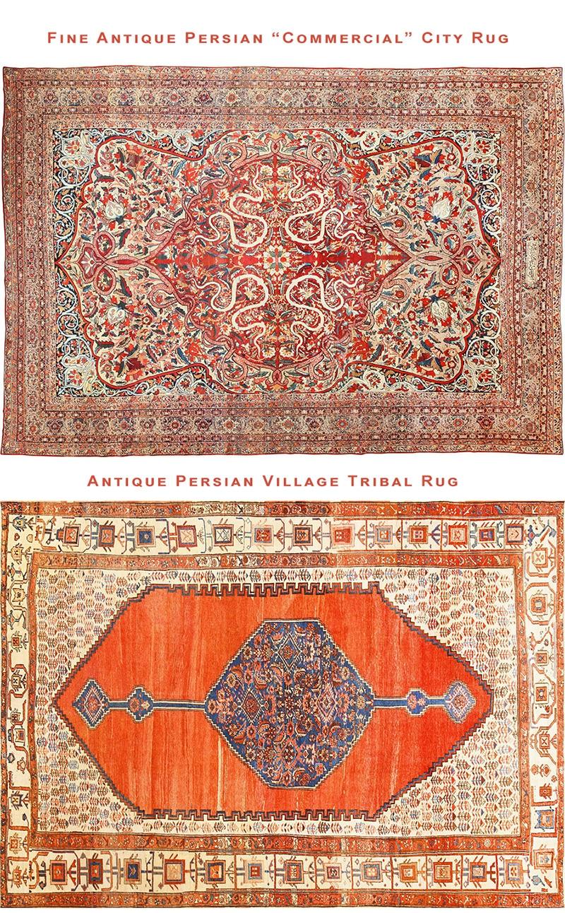 Persian City Rugs vs. Tribal Village Rugs by Nazmiyal