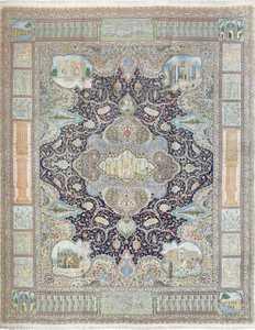 fine kork wool vintage tabriz persian rug 51033 Nazmiyal