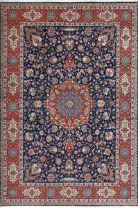 fine navy background vintage tabriz persian rug 51038 Nazmiyal