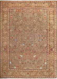 fine samadi animal motif vintage tabriz persian rug 51036 Nazmiyal