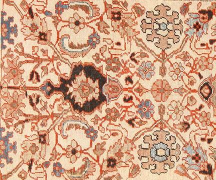 Ivory Antique Persian Sultanabad Rug, Nazmiyal