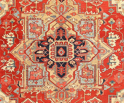 Large Antique Persian Heriz Serapi Rug, Nazmiyal