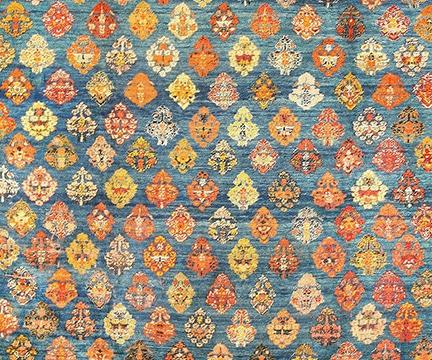 Breathtaking Light Blue Angora Oushak Rug, Nazmiyal