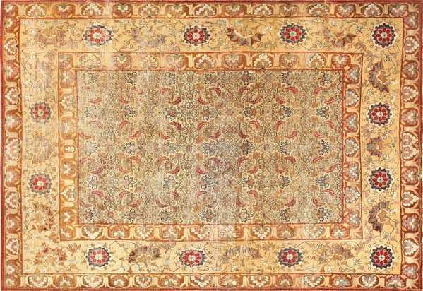 Small Rare Antique Persian Kerman Rug, Nazmiyal
