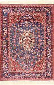 vinatge blue background tehran persian rug 49249 Nazmiyal