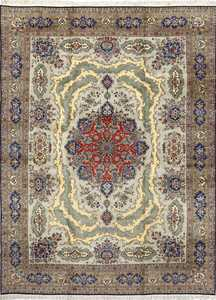 vintage light blue qum persian rug 51062 Nazmiyal