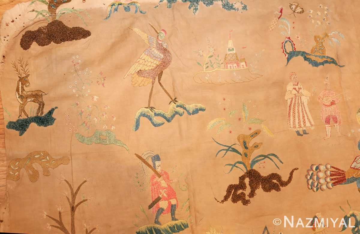 18th century indian embroidery textile 49098 bird Nazmiyal
