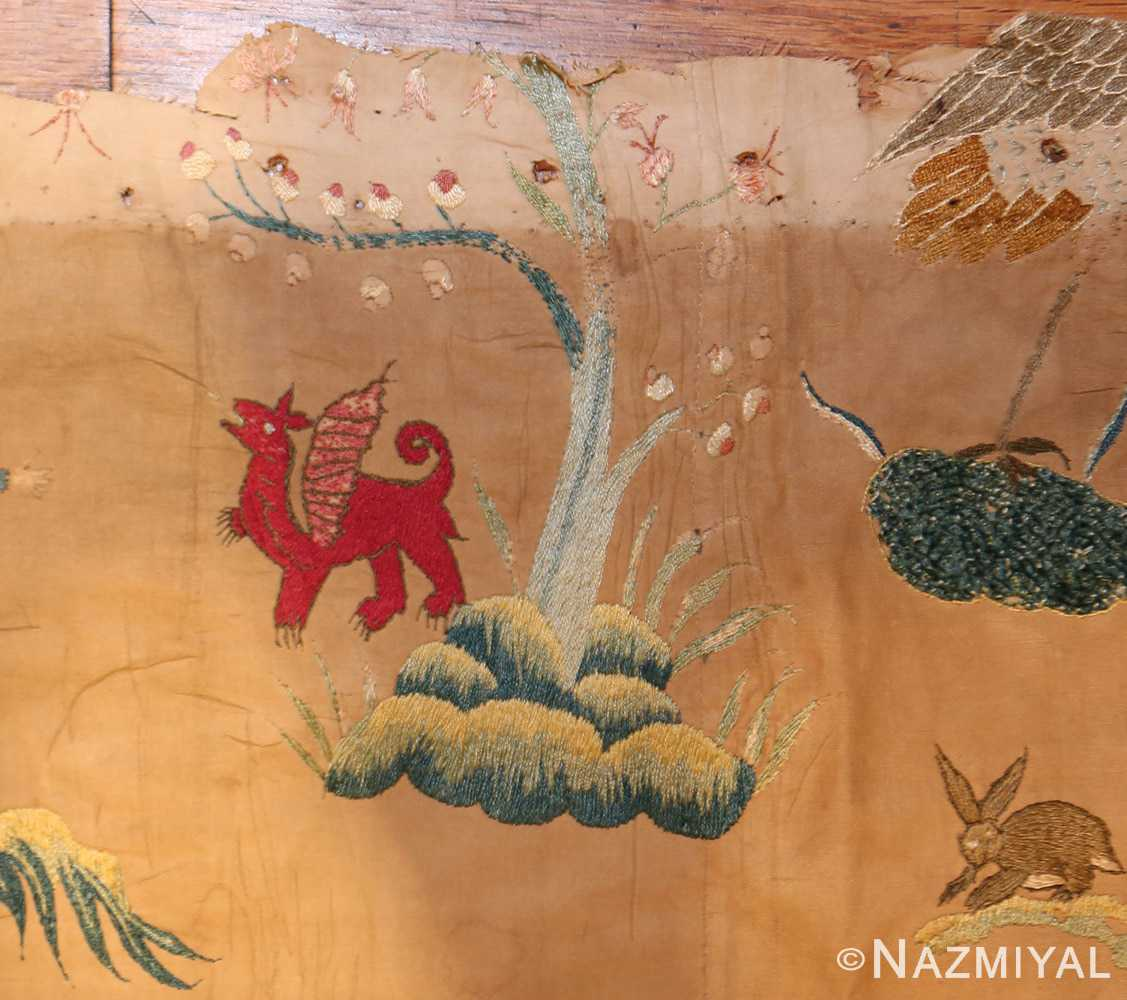18th century indian embroidery textile 49098 dragon Nazmiyal