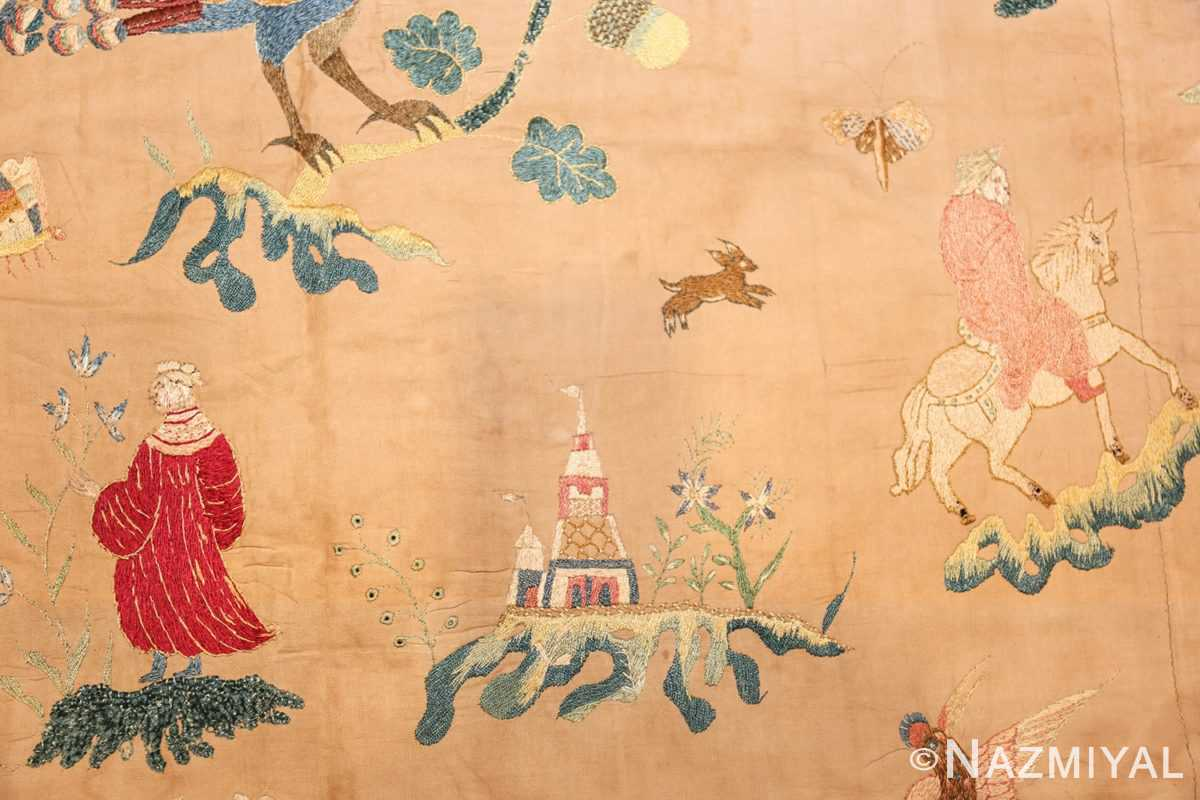 18th century indian embroidery textile 49098 palace Nazmiyal