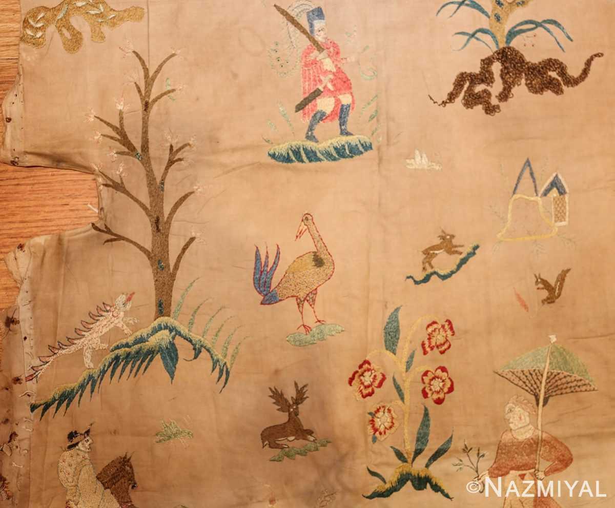 18th century indian embroidery textile 49098 umbrella Nazmiyal