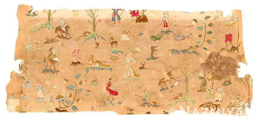 18th century indian embroidery textile 49099 Nazmiyal