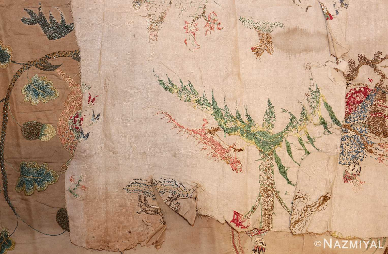 18th century indian embroidery textile 49099 back Nazmiyal