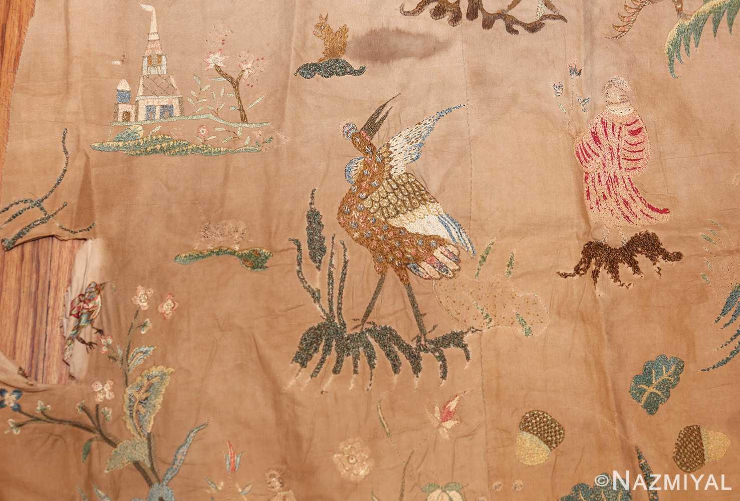 18th century indian embroidery textile 49099 bird Nazmiyal