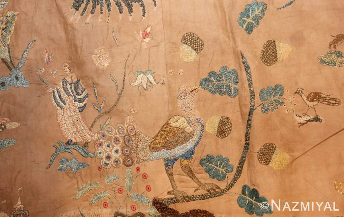18th century indian embroidery textile 49099 bluebird Nazmiyal