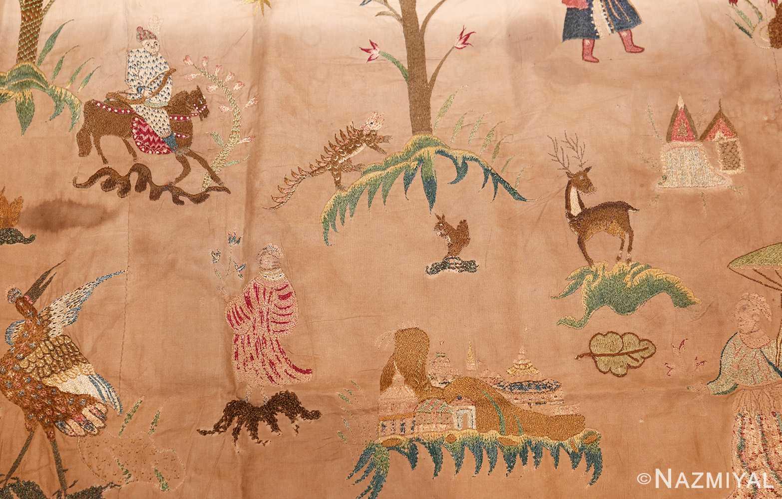 18th century indian embroidery textile 49099 deer Namziyal