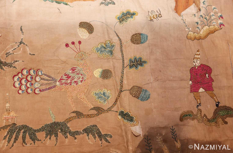 18th century indian embroidery textile 49099 redbird Nazmiyal