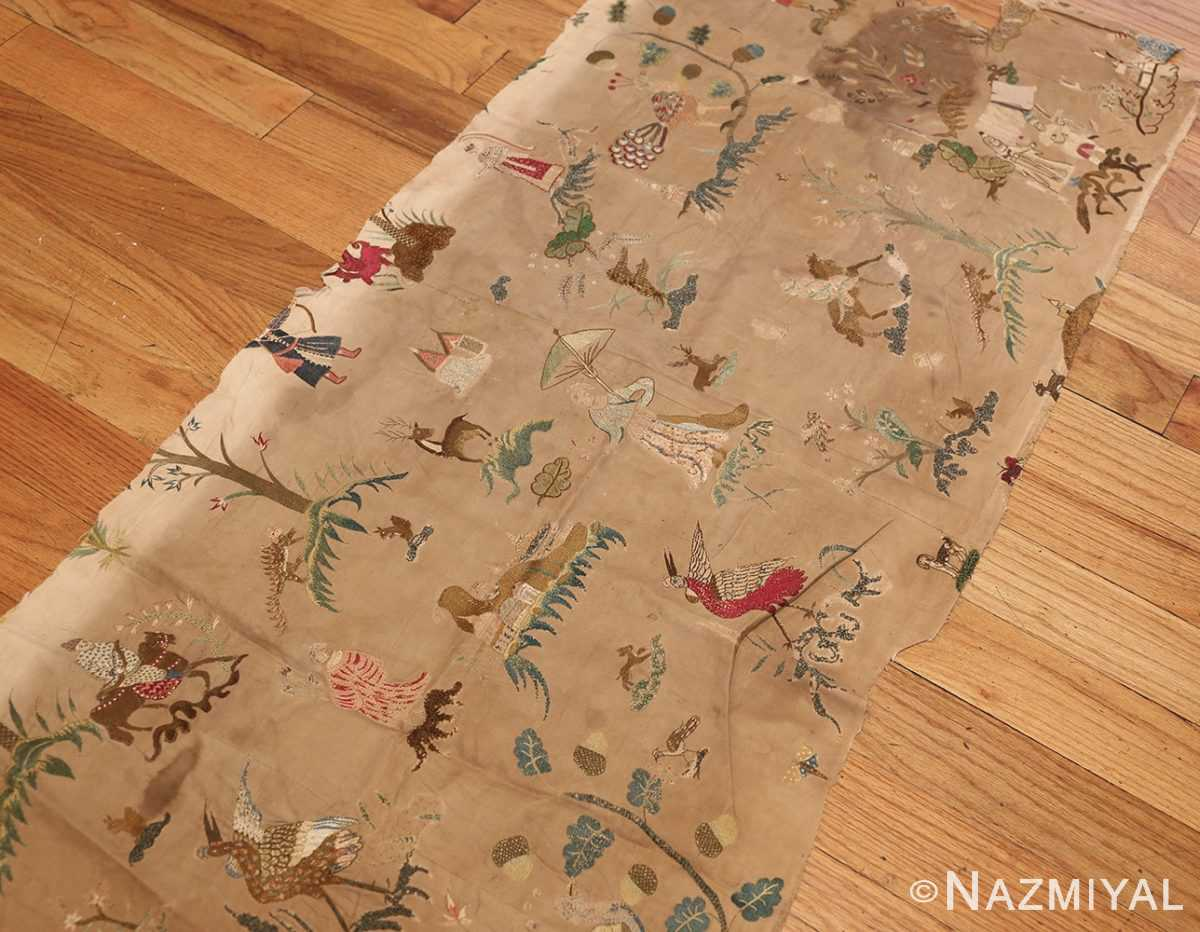 18th century indian embroidery textile 49099 side Nazmiyal
